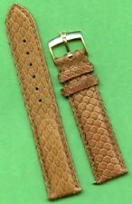 Rolex Gold Buckle & 19mm Genuine Brown Snake Skin MB Strap Band
