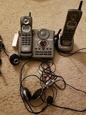 Uniden 2-Line 2.4Ghz Black Cordless Home Phone plus headphones and camera