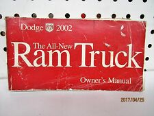 2002 Dodge Ram Truck Owners Manual FREE SHIPPING