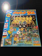 PANINI EURO 92 EMPTY ALBUM LEER SWEDEN 1992 STICKER SWEDISH EDITION 74 78 82 86