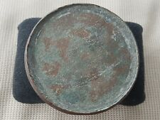 V Rare Roman heavy bronze mirror still with tiny bits of Silvering reflect L47c