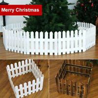 FJ- 1.6M Christmas Tree Gate Wooden Picket Fence Tree Stand Tree Party Decor New