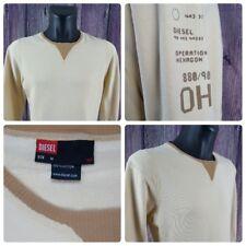 DIESEL | Men's Medium | L/S Crewneck Pullover Sweatshirt Sweater | Khaki | VGC