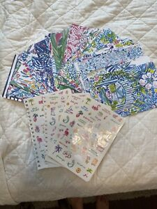 Lilly Pulitzer Agenda Sheets For Crafts