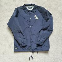 RIP N DIP Cat Skate Windbreaker Black Coach Jacket Sz. S Double Sided Pockets