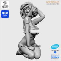 Sleepy girl Girl Unpainted Resin Kits Model GK Figurine YuFan 50mm 1/32