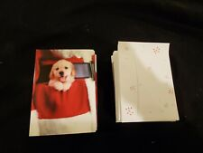 75 Golden Retriever Puppy Christmas Cards & Envelopes