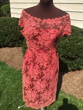1960s Vintage Lace Overlay Cocktail Wiggle Dress