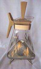 Vintage Coffee Carafe Warmer Inland Glass Triangle Atomic Mid Century Modern
