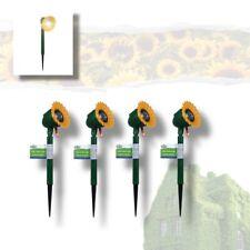 SET of 4 Solar Powered 100 LED String Fairy Lights Garden Party Decor SUNFLOWERs