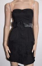 Miss Shop Designer Black la de da Strapless Belted Dress Size 8/XS BNWT #SE20