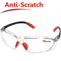Safeyear Safety Glasses Soft TPR Anti-scratch Clear PC Lens Work Goggles Z87+