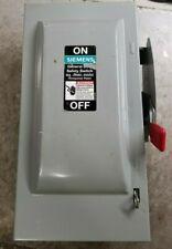 SIEMENS GF321NR 30A 240V 3P 3Ph N3R Fused Used
