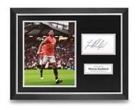 Marcus Rashford Signed 16x12 Framed Photo Display Man Utd Autograph Memorabilia