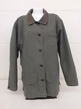 L.L. Bean Olive Green 100% Cotton Field Jacket w/Button Out Wool Liner Wmn's XL