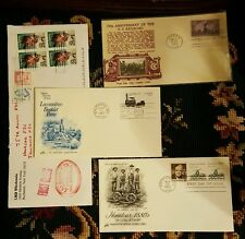 Lot First Day of  Issue Train Stamp Original Envelopes & 4 Lou Gehrig stamps