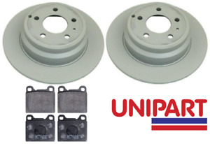 For Volvo - C70 2.0 2.3 2.5 1997-2006 Rear 295mm Brake Discs and Pads Unipart