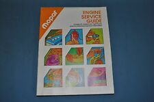 1978 Mopar Engine Service Guide Dodge Plymouth Chrysler NOS Manual Repair OEM