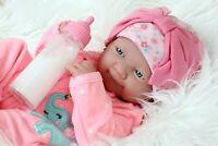 ~NEW~ Precious Preemie Berenguer Newborn Doll Vinyl Silicone Handmade Happy Face