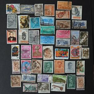 Old INDIA Postage Stamps - Post 1950s Asia Mixed Bundle Job Lot - 584