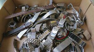 Q8 Vintage Used Men's Watch Bands, Partial & Segments Parts Or Repair Lot