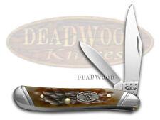 CASE XX Jigged Brown Bone Peanut Stainless Pocket Knife Knives