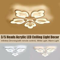 Leaf Acrylic LED Ceiling Light Pendant Lamp Hallway Bedroom Dimmable Fixture