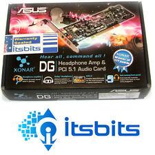 ASUS XONAR DG PCI 5.1 SOUND CARD AND DOLBY HEADPHONE AMP JACK SENSING FT PANEL