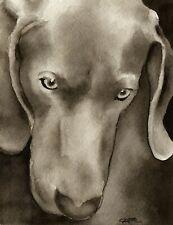 Shar Pei Art Print Sepia Watercolor 11 x 14 by Artist DJR