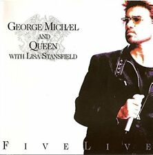 George Michael Five live (1993, & Queen with Lisa Stansfield)  [CD]