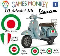 ADESIVI MOTO VESPA kit PIAGGIO Bandiere Italia GTS PX PRIMAVERA SPRINT ET3 ET1