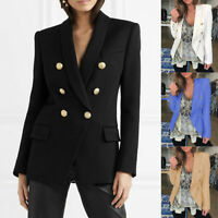 Womens Jacket Shrug Casual Blazer Smart Suit Ladies Office Evening Coat USA