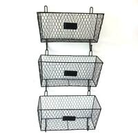 Wall Mounted 3 Tier Metal Fruit Basket Kitchen Storage Rack Organizer Holder