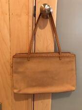 EUC Ann Taylor Camel Nubuck Leather - Suede Handbag