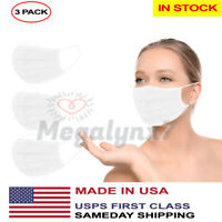 Made In USA Washable Reusable Double Layer Face Mask (In Stock) - 3 Pack