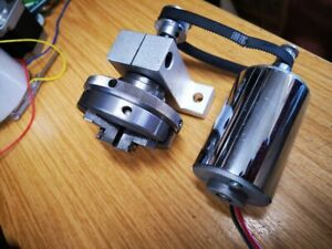 DIY Mini Lathe Chuck 80mm 3 Jaws with stand and 200W DC Motor
