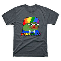 Clown Pepe Honk Honk Honkler Meme Men's Tee Black Cotton T-shirt  Funny Shirt