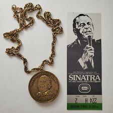 Frank Sinatra Richfield Coliseum Ohio opening night 1974 ticket and medallion