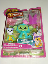 ANIMAL JAM GAME - LUCKY MONKEY & PET PUPPY FIGURE + CODE - NEW TOY 2016