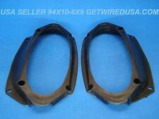 """us seller UNIVERSAL 6x9 to 4x10 SPEAKER ADAPTERS PAIR OF 6"""" X 9"""" 4"""" X 10"""" PLATES"""