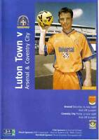 Football Programme>LUTON TOWN v ARSENAL & COVENTRY CITY July 1998