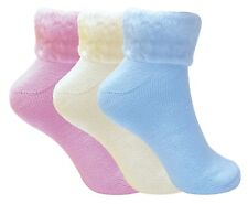 3 Pack Ladies Thick Warm Cute Fluffy Fleece Cosy Ankle Thermal Lounge Bed Socks 4-7 UK Soltr01 (3 Pack)