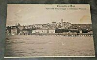 FRANCAVILLA a MARE Chieti Vista da spiaggia e Stabilimento antica Cartolina 1916
