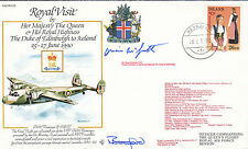 RV15cDA Royal visit to lceland HM The Queen  Double Signed