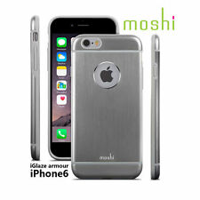 MOSHI iGLAZE ARMOR SILVER GREY ALUMINUM HARD CASE COVER FOR APPLE iPHONE 6 6s
