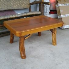 RECLAIMED Cypress SLAB WOOD coffee TABLE stand USA handcrafted FOLK ART rustic