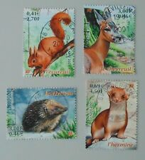 france année 2001 3381 à 3384 oblitérés nature de france faune animaux ( 1 )