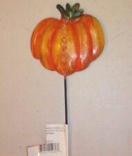 New listing Garden Small Pumpkin Orange Fall Stake Pick #68