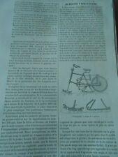 Un Vélocipède à Neige et à Glace Gravure Print 1893