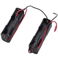 2Pcs de Soporte de caja de bateria con marco de apertura lateral doble 2 x G1I5